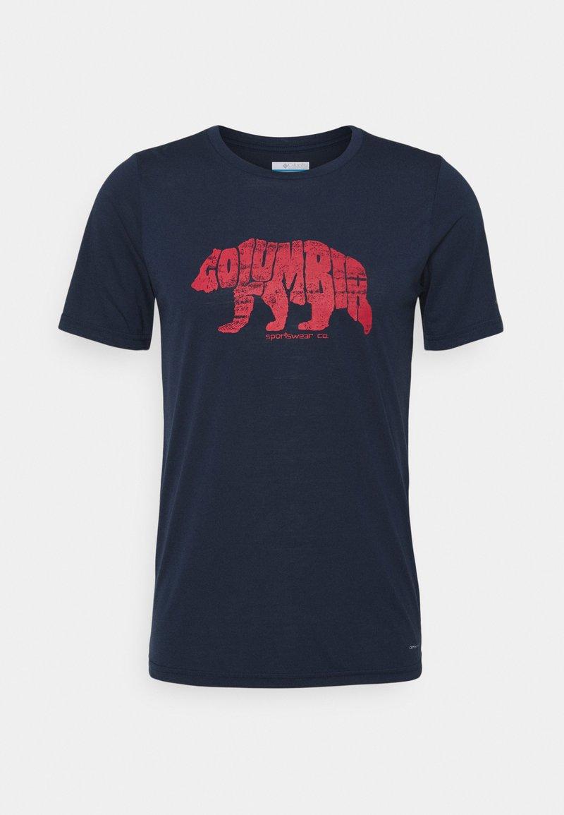 Columbia - TERRA VALE™ TEE - Print T-shirt - collegiate navy