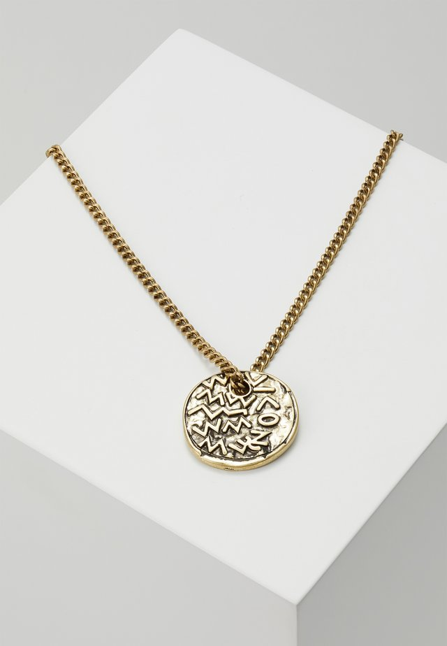 EMBOSSED SYMBOL BURNISHED NECKLACE - Smykke - gold-coloured