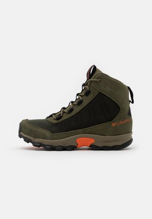 YOUTH FLOWBOROUGH MID UNISEX - Hikingschuh - nori/tangy orange