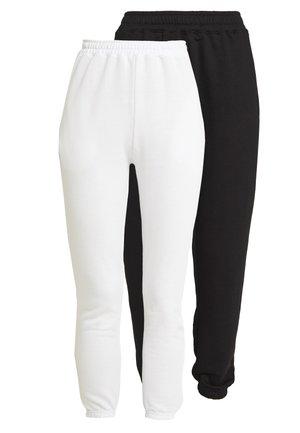 BASIC JOGGERS 2 PACK - Joggebukse - white/black