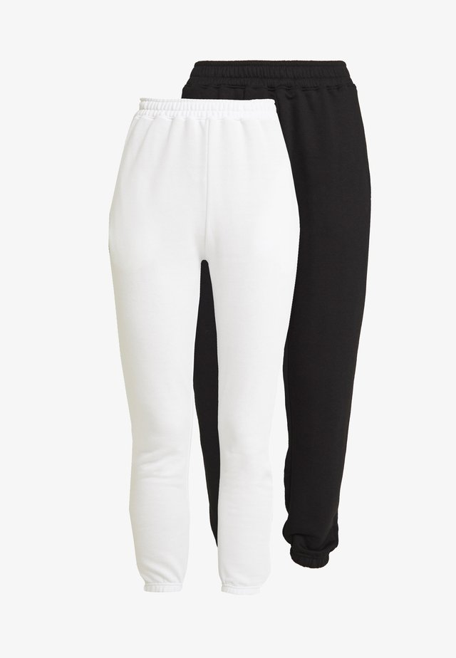 BASIC JOGGERS 2 PACK - Pantalon de survêtement - white/black
