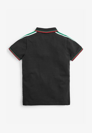 COLOURBLOCK TAPED POLOSHIRT (3-16YRS) - Polotričko - black