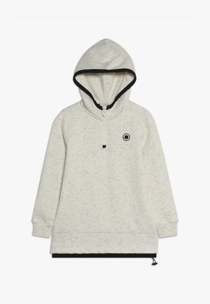 CLUB NOMADE SOFT HOODY WITH ZIP NECK - Mikina s kapucí - ecru melange