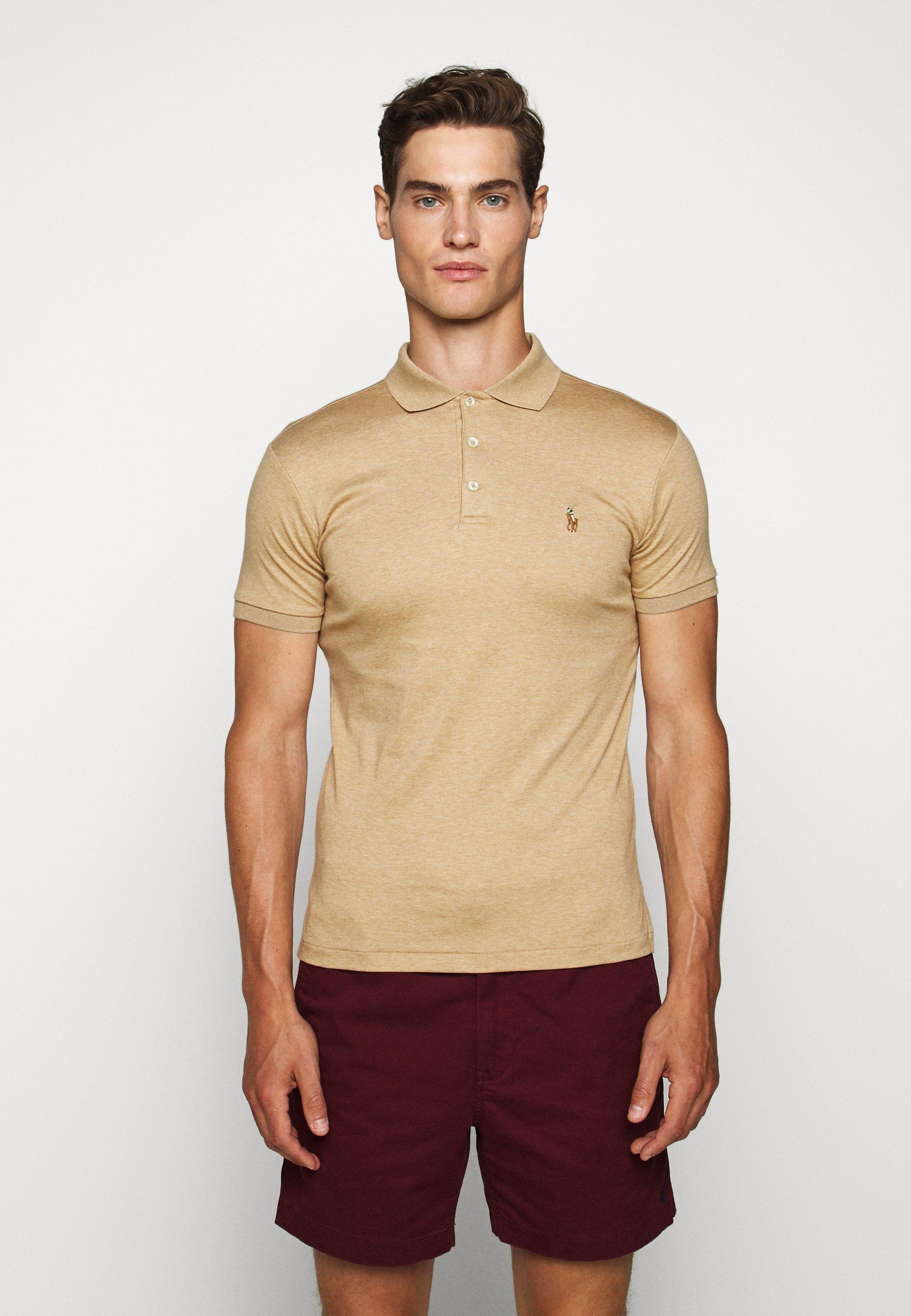 Men SLIM FIT SOFT COTTON POLO SHIRT - Polo shirt - classic camel