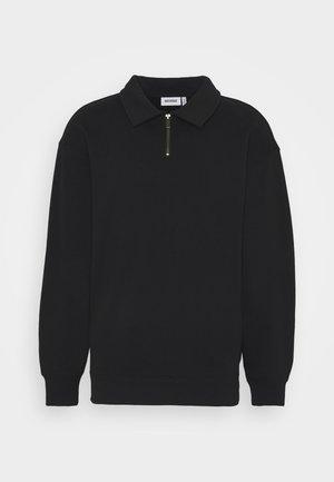 STEFAN HALFZIP UNISEX - Sweatshirt - black