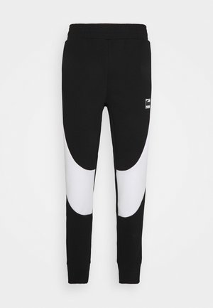 DIME PANT - Tracksuit bottoms - black/white