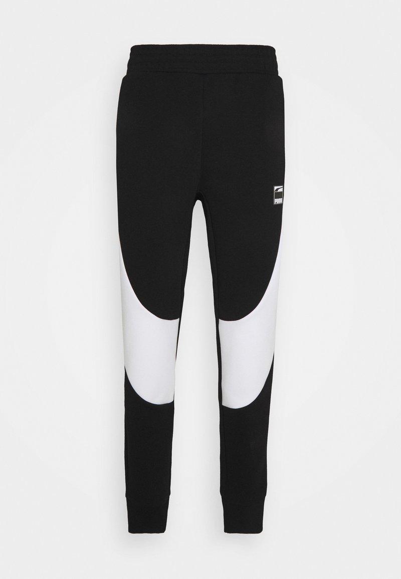 Puma - DIME PANT - Pantalon de survêtement - black/white