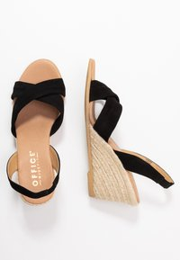 Office Wide Fit - MILLS - Espadrilles - black - 3