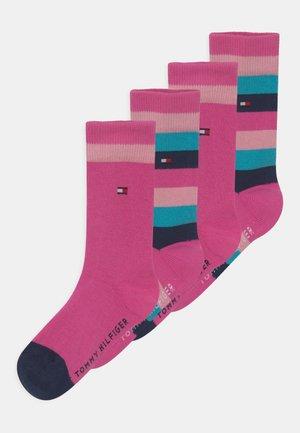 BASIC STRIPE 4 PACK - Socks - pink combo