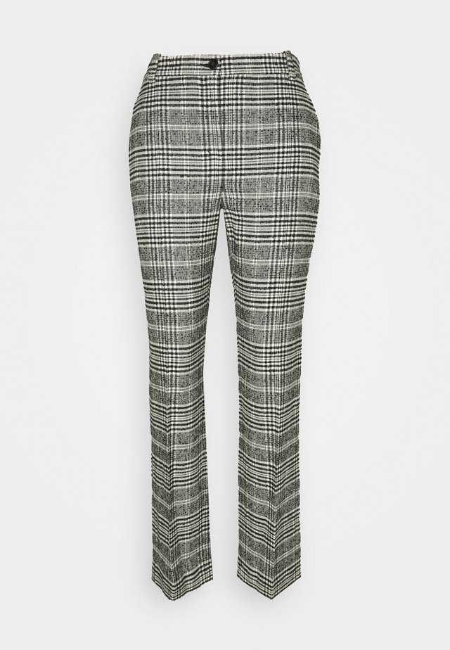 PANTALONI TROUSERS - Tygbyxor - black/white