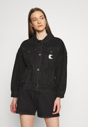 WASHED JACKET - Denim jacket - black