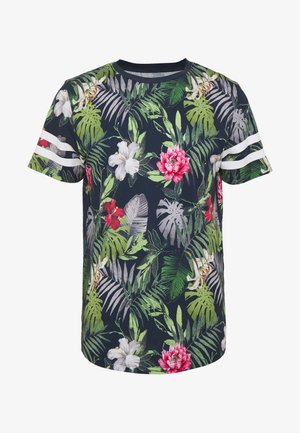 JORDIZ TEE CREW NECK - T-shirt print - navy blazer