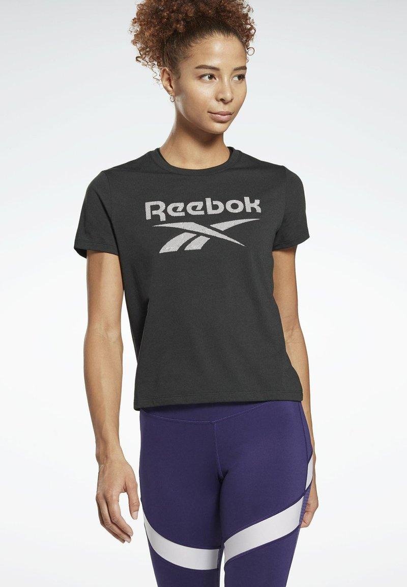 Reebok - WORKOUT READY SPEEDWICK - Print T-shirt - black