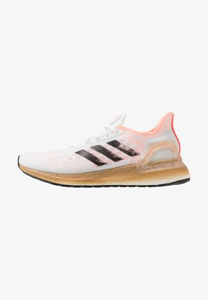 ULTRABOOST - Laufschuh Neutral - footwear white/core black/signal pink