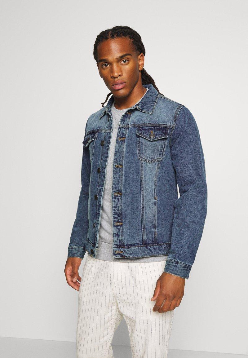 Brave Soul - FIELDING - Giacca di jeans - blue denim