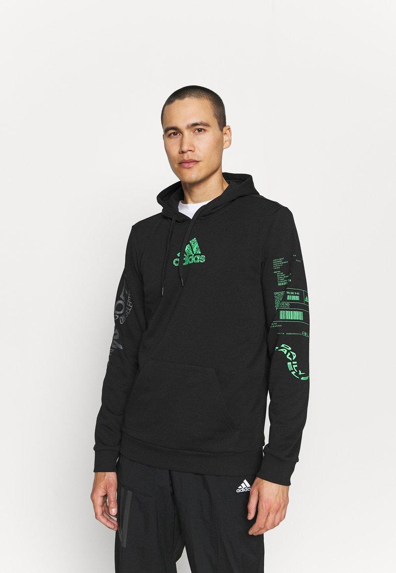 adidas Performance - X CITY HOODY - Sweatshirt - black