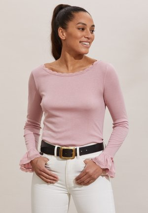 GLADYS - Long sleeved top - pink mauve