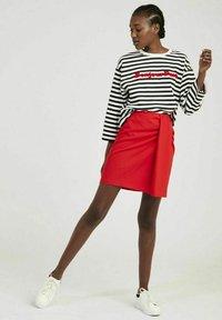 NAF NAF - A-line skirt - red - 1