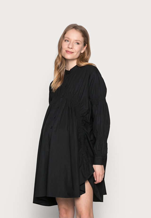 PCMSASSY OVERSIZED DRESS - Shirt dress - black
