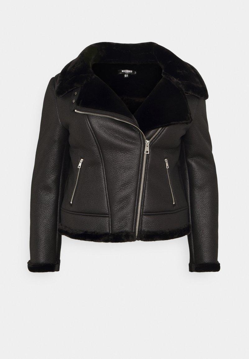 Missguided Plus - AVIATOR - Winter jacket - black
