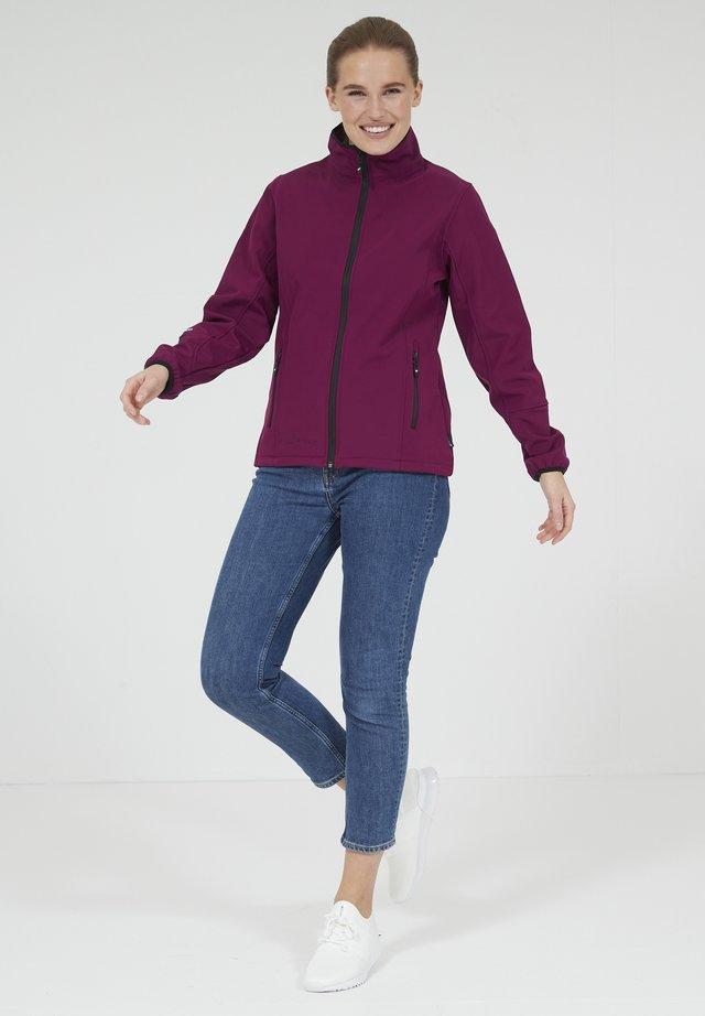 MIT WASSERDICHTER ZWISCHENMEMBRAN - Soft shell jacket - dark purple