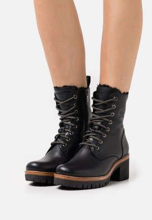 PADMA  - Lace-up ankle boots - black