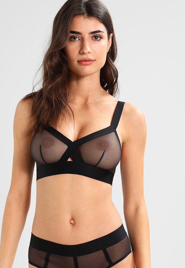 WIREFREE SOFTCUP BRALETTE - Triangle bra - black