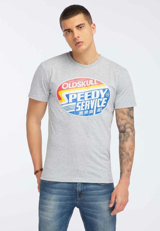 OLDSKULL T-SHIRT PRINT - T-shirt z nadrukiem - grey melange