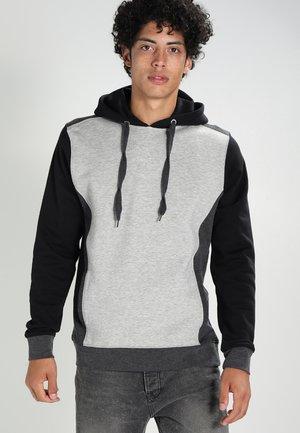 3 TONE  - Bluza z kapturem - grey/charcoal/black