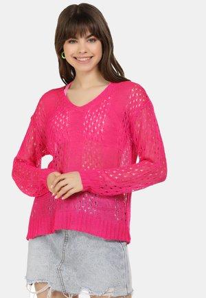 PULLOVER - Jumper - neon pink
