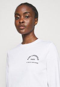 KARL LAGERFELD - ADDRESS LOGO - Sweatshirt - white - 3