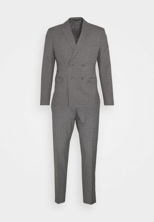 CHECK DOUBLE BREASTED SUIT - Oblek - grey