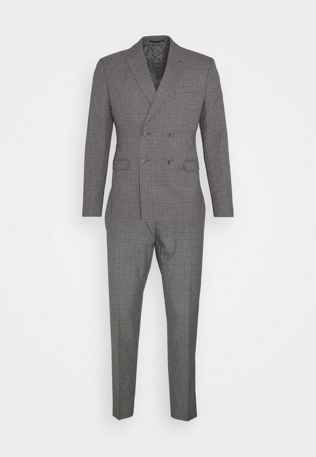CHECK DOUBLE BREASTED SUIT - Kostuum - grey
