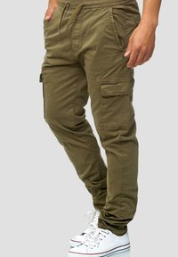 INDICODE JEANS - BROADWICK - Cargo trousers - army - 3
