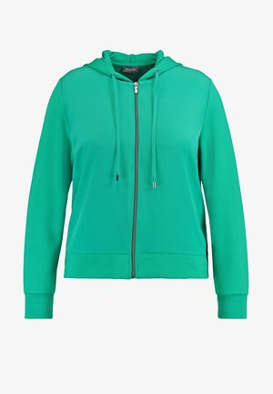 Sweater met rits - electric green