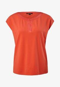 comma - KURZARM - Print T-shirt - coral - 4