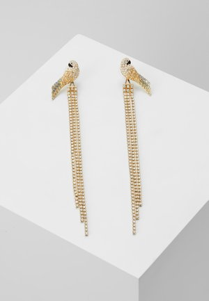 TROPICAL LONG PARROT - Earrings - gold-coloured