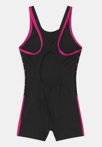 Speedo - BOOM LOGO SPLICE  - Swimsuit - black/electric pink - 1