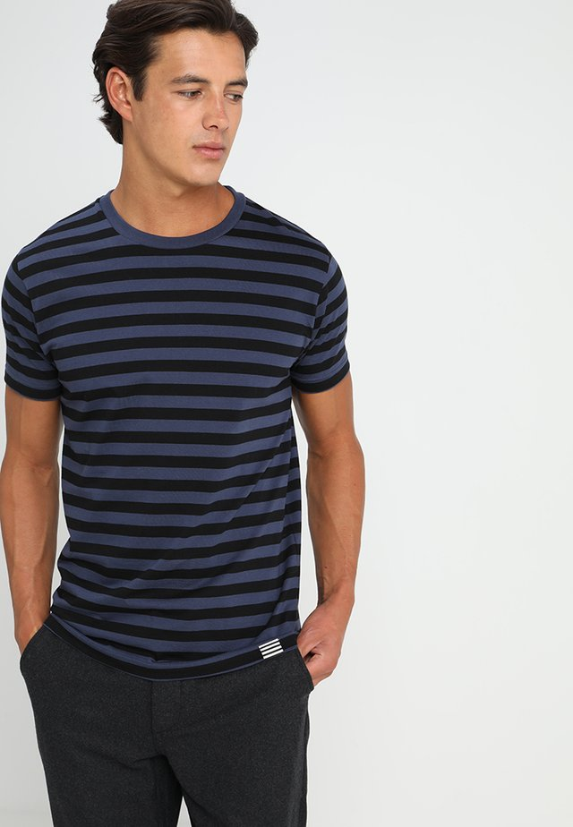 MIDI THOR - T-shirt imprimé - navy/black