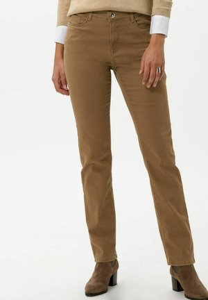 STYLE MARY - Slim fit jeans - dark camel