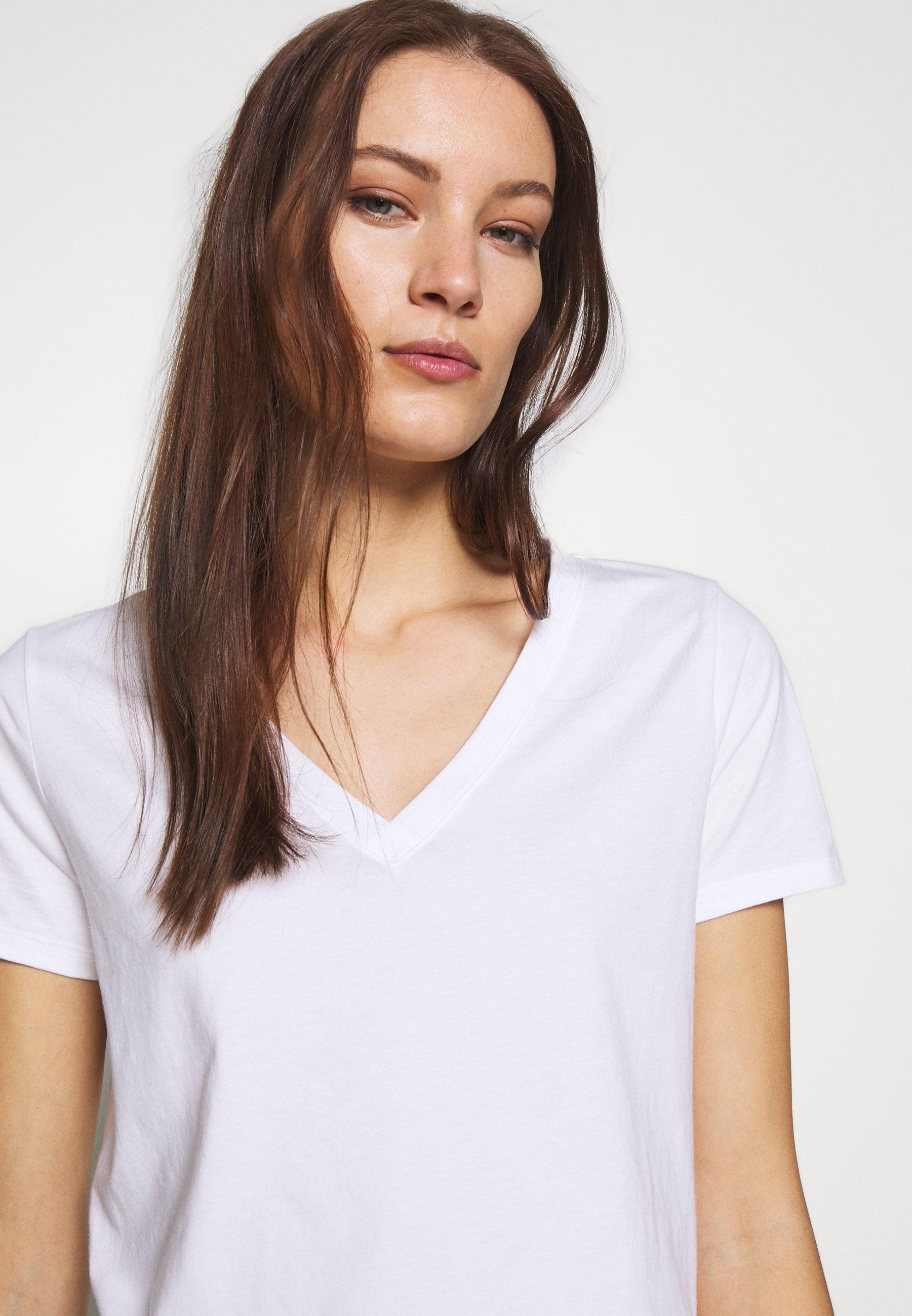 Banana Republic New Supima Vee - T-shirts White/hvit