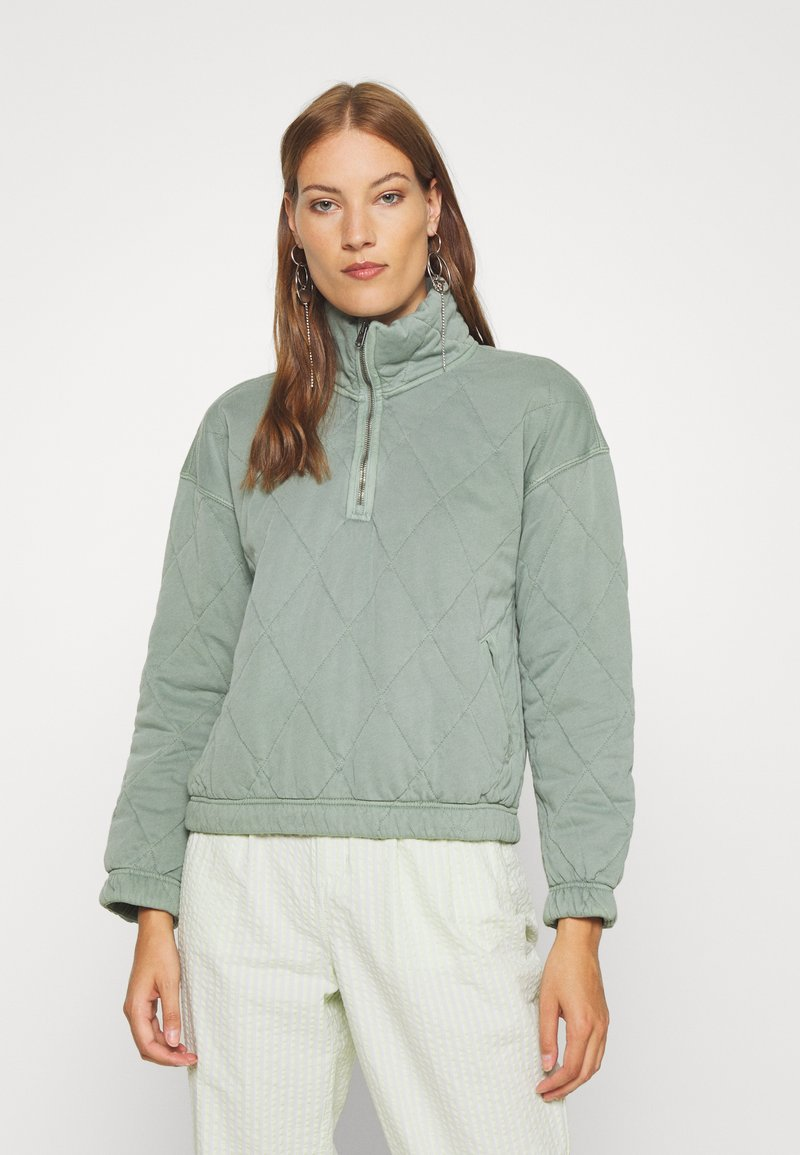 Abercrombie & Fitch - QUILTED ZIP - Light jacket - green
