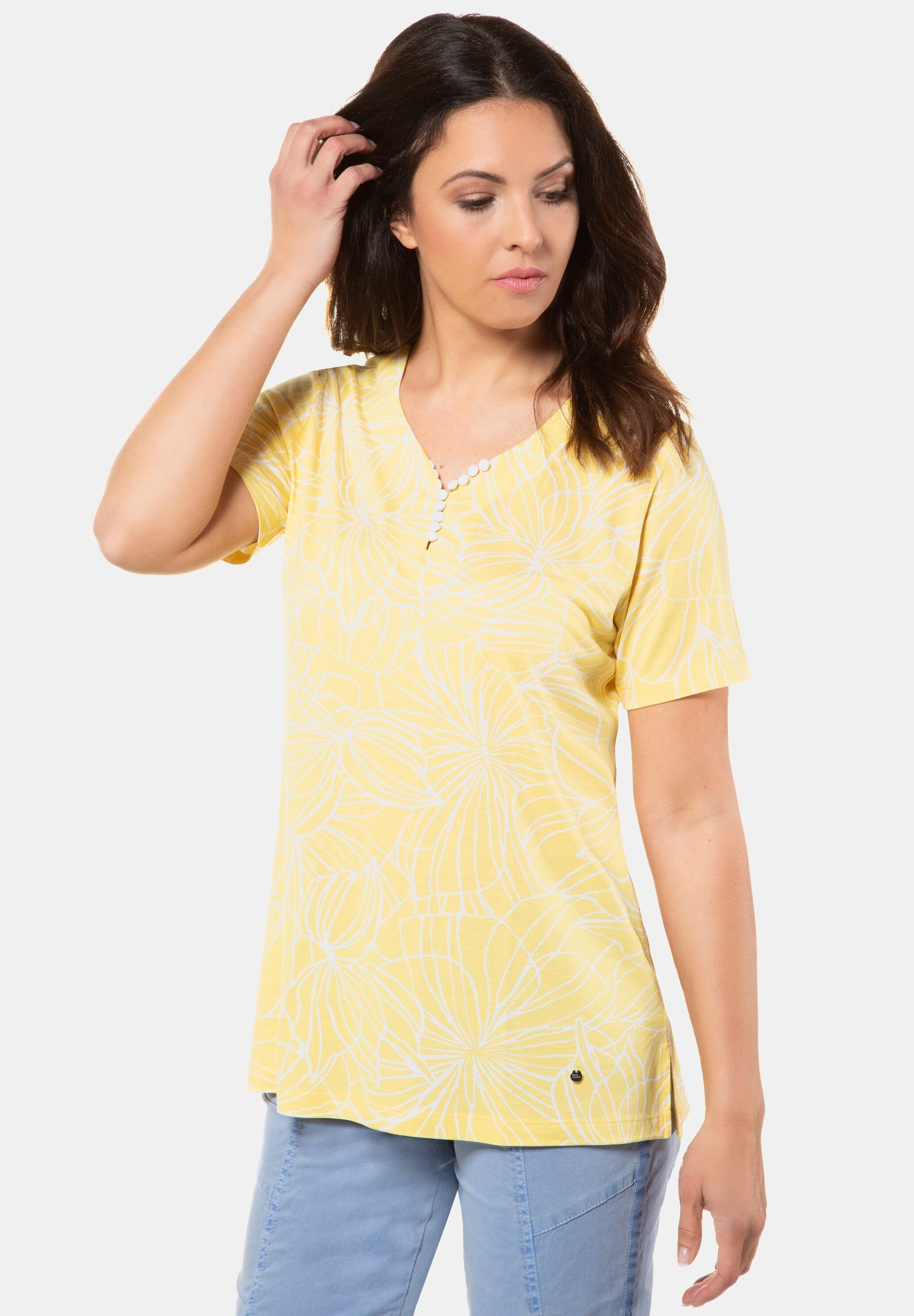Damen GRAFISCHES BLÜTENMUSTER - T-Shirt print