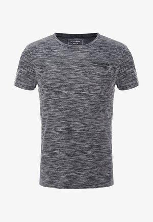 Print T-shirt - black/grey