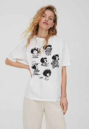 MAFALDA - Print T-shirt - white