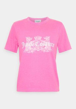 DOG  - T-shirt print - pink glo