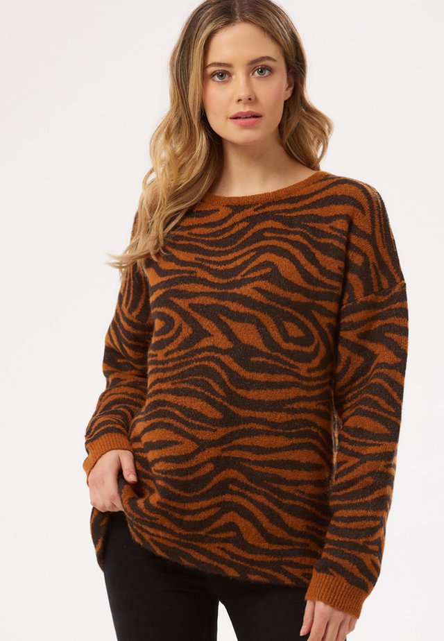 LIVVY BIG CAT TIGERS - Jumper - black