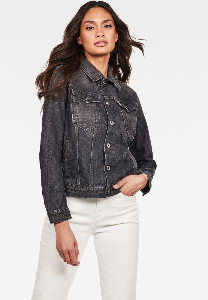 G-Star - ARC SLIM  - Denim jacket - black