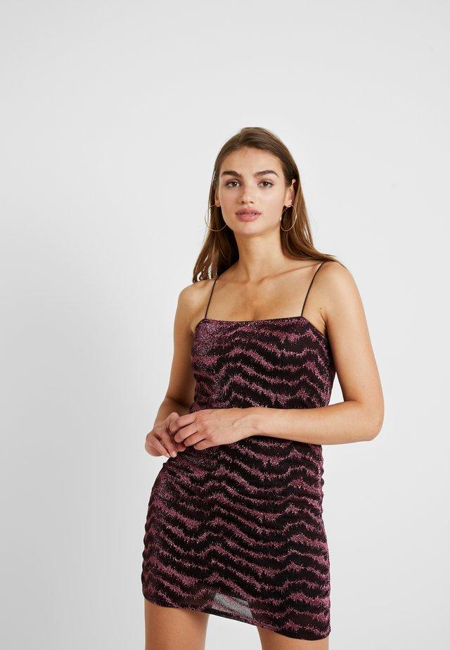 GLITTER LUREX DRESS - Cocktail dress / Party dress - pink
