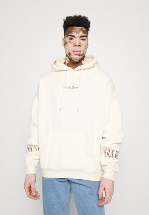 CREW HOODIE GOTHIC LETTERS - Sweatshirt - beige